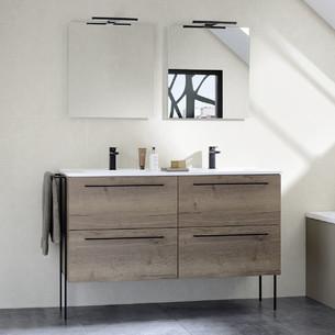Meubles de salle de bains avec 1 ou 2 niveaux de tiroirs de la gamme Impact 2 par Sanijura