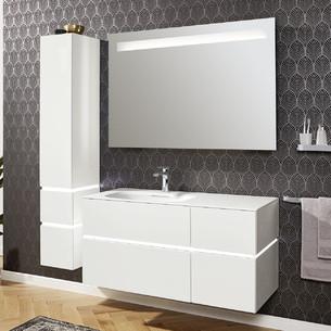 Meubles avec plan vasque et bandeau LED Vogue par Vigour
