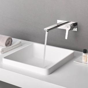 Mitigeur monocommande 2 trous lavabo Taille L Lineare Chromé de Grohe