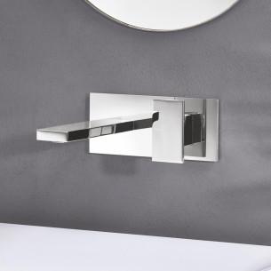 Mitigeur lavabo mural encactré Tabula de Cristina