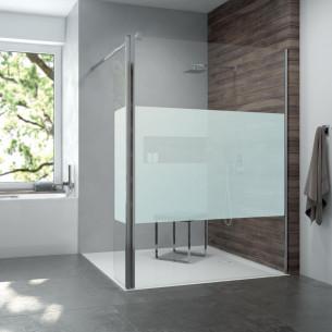 Paroi de douche fixe avec volet mobile Préface de Leda