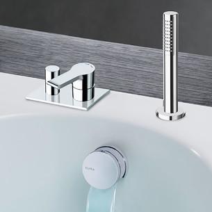 Pack encastré bain/douche avec remplissage par le vidage Delta de Cristina