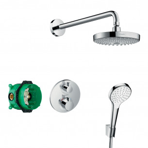robinetterie douche hansgrohe solution encastree croma select s180