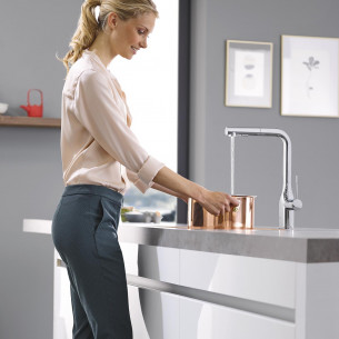 robinetterie evier grohe essence foot control
