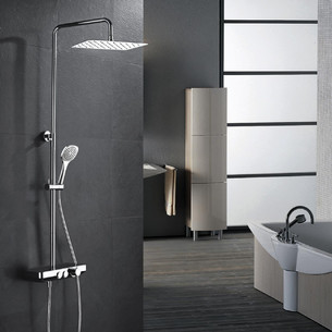 Colonne de douche thermostatique Drop Shower chromé de Paini France