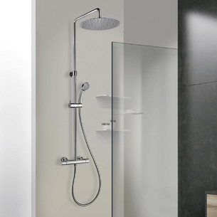 Colonne de douche thermostatique Shower Line 250 coloris chromé de Paini Italie