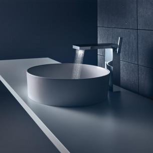robinetterie lavabo axor myedition 230 chrome verre noir