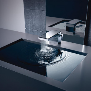 robinetterie lavabo axor myedition 70 chrome verre