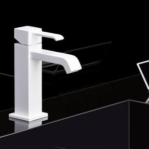 Mitigeur lavabo whitemat Quadri de Cristina