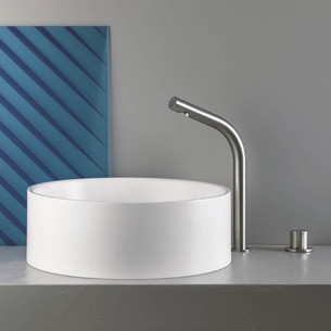 Mitigeur lavabo 2 trous SX - INOX AISI 316 de Cristina