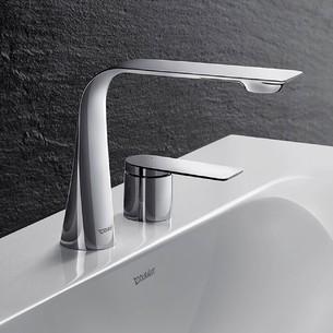 Robinetterie de lavabo 2 trous M D1 chromé de Duravit