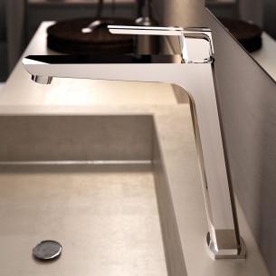 Mitigeur lavabo rehaussé Néo de la marque Horus finition chromé