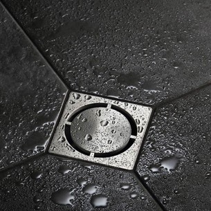 Systèmes d'évacuations de l'eau par le sol pour douches à l'italienne Schlüter®-KERDI-DRAIN