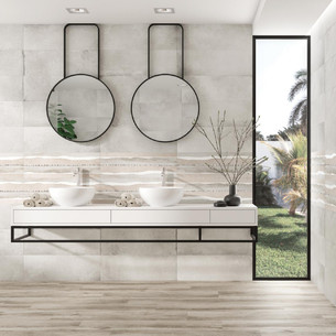 Collection Cornwall par Tau Ceramica en coloris White et Gold Brading