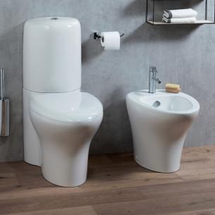 Pack WC sur pied sans bride Nouvelle Vague blanc de Jacob Delafon