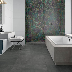 Collection Rockyart par Villeroy & Boch en coloris Snow, Magical Blue et Basalt