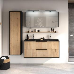 Meuble de salle de bains avec 2 coulissants de la gamme Ultra Cadra en largeur 120 centimètres par Delpha