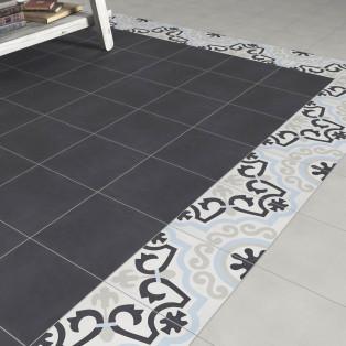 Carreaux ciment noir