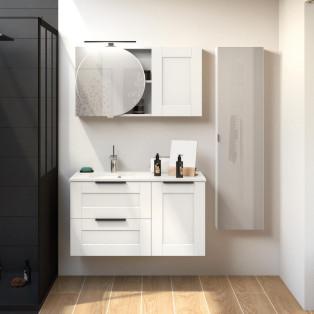 Meuble de salle de bains Kami largeur 100 cm par Delpha