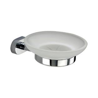 accessoires de toilette Inda Porte-savon Gaia chromé et verre satiné