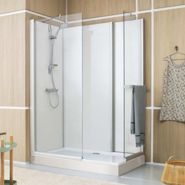 Cabine de douche complete Leda Pluriel Access douche ouverte