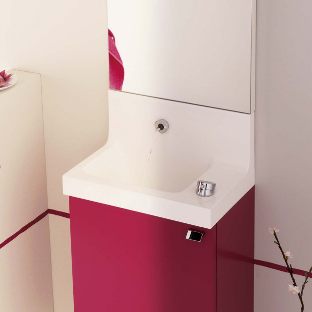 Lave-mains Sanijura Coloris rose fushia satiné Pop Laminar