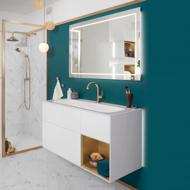 meuble salle de bains villeroy et boch finion