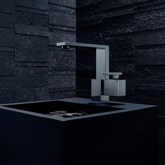 Mitigeur lavabo 190 Finition chrome noir poli AXOR Edge