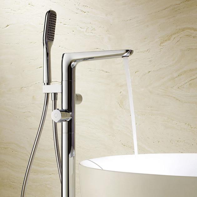 Mitigeur bain/douche sur pied thermostatique Birdy de Paini
