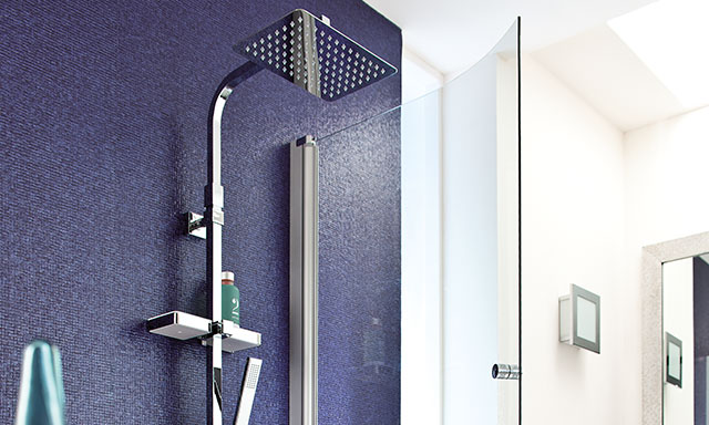 colonne de douche valentin dome de pluie