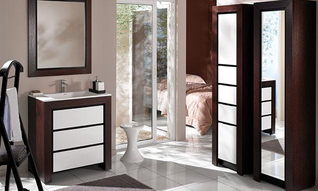 Meuble salle de bains ch ne blanc decotec vend me espace for Decotec salle de bain prix