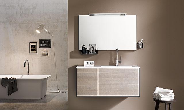 Meubles salle de bains polyvalents stocco linea espace for Miroir linea 90