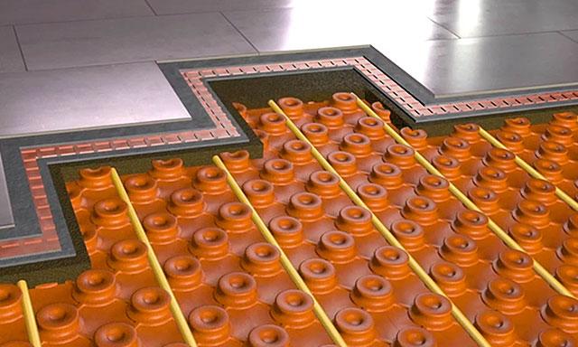 Kit sol carrelage chauffant hydraulique schl ter espace for Mise en chauffe plancher chauffant avant carrelage