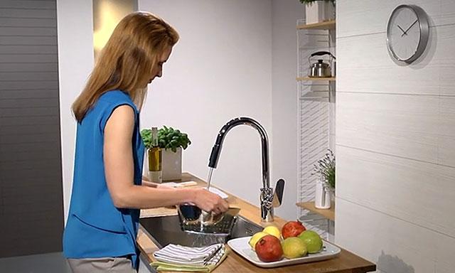 Robinet cuisine avec douchette hansgrohe focus espace aubade - Robinet cuisine hansgrohe ...