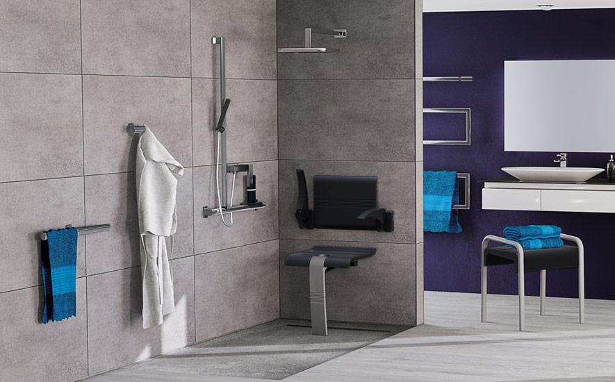 Salle de bains handicapé : douche, WC, baignoire | Espace Aubade