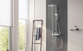 Salle de bains robinetterie colonne de douche