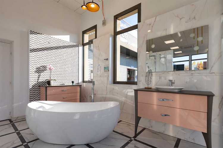 espace salle de bain dans un magasin