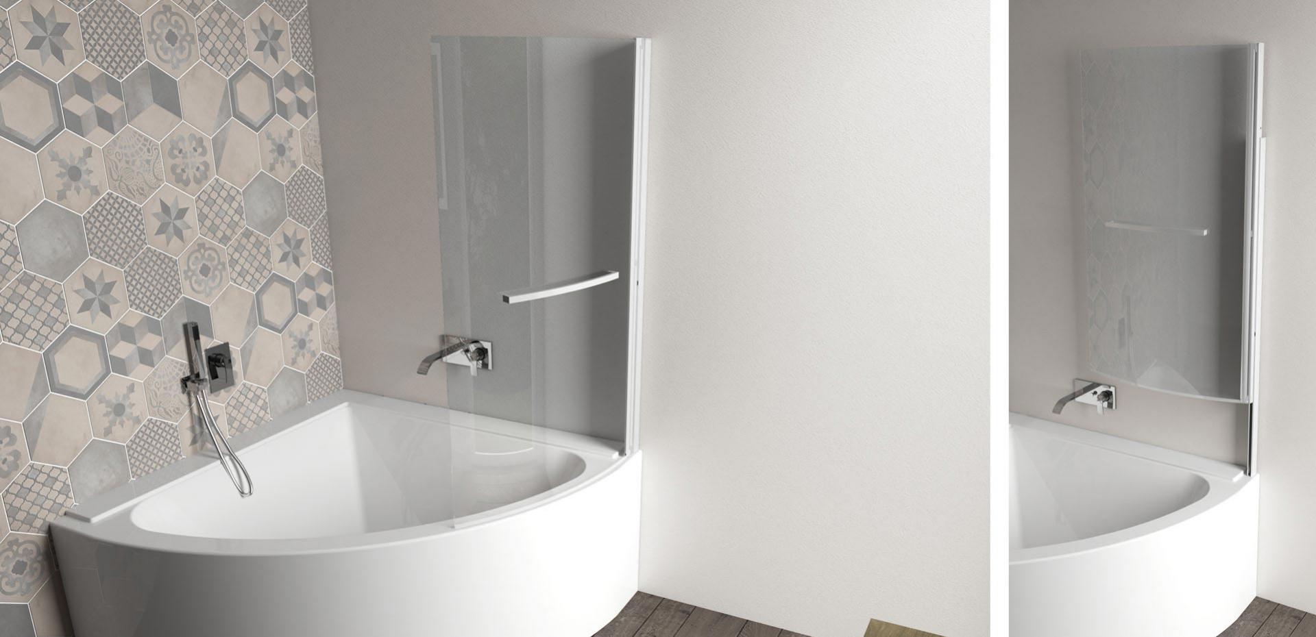 Jacuzzi - Pare-baignoire relevable Curva